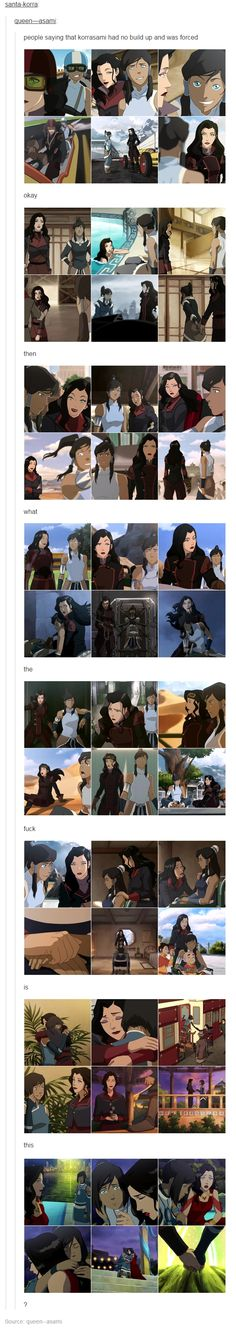 People saying that Korrasami had no build up and was forced. Okay. Then what the fuck is this?