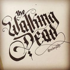 Tonight  #thewalkingdead #thewalkingdeadamc #freehand #calligraphy #design #art #style #sketch #customtype #handtype #type #typespire #goodtype #inspiration #lettering #typism #typography #tyxca #calligritype #graphicdesign #handmadefont #typostrate #thedailytype #scriptart #font