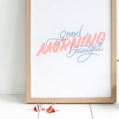 Good morning beautiful affiche Antonin+Margaux