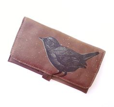 Bird Wallet For the Ladies in Brown Leather by bonspielcreation, $54.00