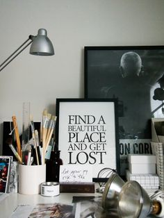 STIL INSPIRATION - My messy workspace
