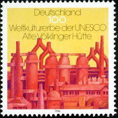 Voelklinger Huette auf Briefmarke von 1996