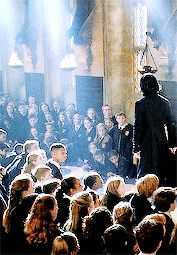 """Alan Rickman as Professor Severus Snape - This is from """"Harry Potter and the Chamber of Secrets"""" ... the dueling club."""