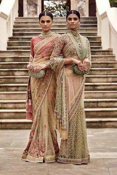Sabyasachi sarees♥ For more pins; --------[[Sabyasachi~❤。An Exquisite Clothing… Lehenga Sari, Sabyasachi Sarees, Indian Sarees, Anarkali, Net Saree, Indian Attire, Indian Wear, Indian Dresses, Indian Outfits