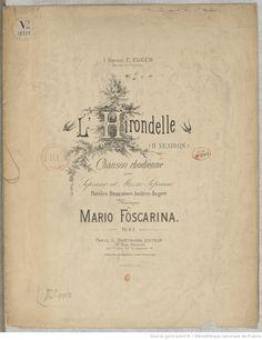 ....b.fre.L'hirondelle : chanson rhodienne pour soprano et mezzo soprano / paroles françaises imitées du grec ; musique de Mario Foscarina | Gallica