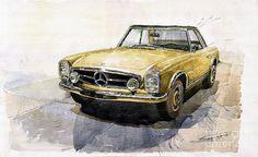 painting abstract old car - Google zoeken