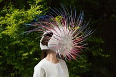 Sculptural virtual reality helmets for Violescence exhibition