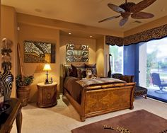 African inspired bedroom, use warm colours to create this look #bedroom #warm #african