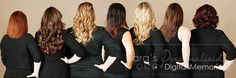 Salon Staff. Black clothes and beautiful hair.