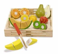 Best Toys for Kids 2014: www.pipedreamtoys.com Cutting Fruit Set - Wooden Play Food