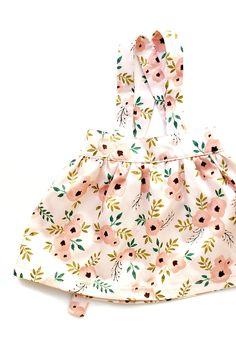 Handmade Floral Suspender Skirt | GreyandLion on Etsy