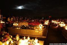 Polish graveyard on All Saints Day