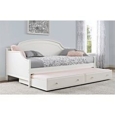 Better Homes and Gardens Lillian Twin Daybed, White Image 3 of 10 Girls Daybed, Girls Bedroom, Bedroom Decor, Girls Twin Bed, Guest Bedrooms, Bedroom Furniture, Bedroom Ideas, Cama Vintage, Daybed Room