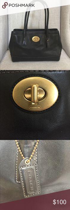Authentic black Leather Coach Bag Black leather coach bag Coach Bags Shoulder Bags