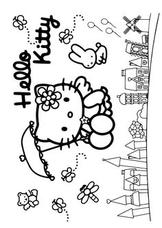 The Best Friends Forever color Coloring Page Coloring Book Art, Colouring Pages, Hello Kitty Coloring, Kawaii Chibi, Best Friends Forever, Snoopy, Drawings, Kids, Fictional Characters
