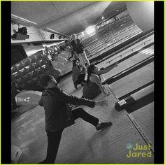 Ross Lynch, Laura Marano, Raini Rodriguez & Calum Worthy Celebrate KCAS Win By Bowling!