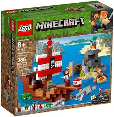Craft a pirate ship with gold detailing, pirate banner, gang plank, cannons and a cute resident parrot with this LEGO Minecraft The Pirate Ship Adventure Lego Minecraft, Minecraft Skull, Minecraft Zombie, Mojang Minecraft, Minecraft Images, Bateau Pirate Lego, Lego Pirate Ship, Lego Shop, Dolphins