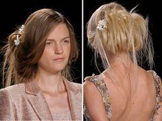 hair at Badley Mischka SS '12 show.  love the blonde
