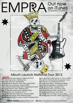 EMPRA's first national tour. 23 dates. 3 months!