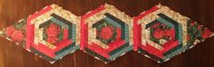 Christmas tabletopper by MooseCarolQuilts on Etsy, $50.00