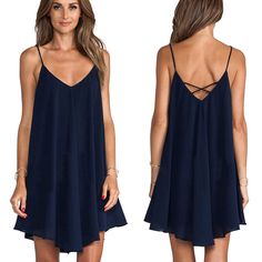 New Summer Sexy Women Sleeveless Party Dress Evening Cocktail Casual Mini Dress #Unbranded #Sundress #Casual