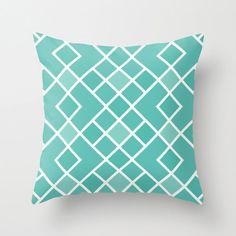 Geometric Diamond Pattern Pillow Cover - Mint green Aqua Blue - Abstract Modern Throw Pillow - Modern Home Decor - By Aldari Home Mint Green Rooms, Green Aqua, Modern Pillow Covers, Modern Throw Pillows, Fluffy Pillows, Trendy Wallpaper, Mid Century Decor, Blue Abstract, Diamond Pattern
