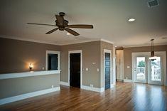 oak doors with white trim | dark doors, white trim, oak floors