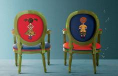 Mini sedia a medaglione per bambini di Creazioni | lartdevivre - arredamento online