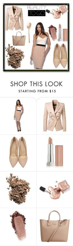 """""""Been There Done That"""" by tjedge ❤ liked on Polyvore featuring Balmain, Charlotte Olympia, Maybelline, Dolce&Gabbana and MANGO"""