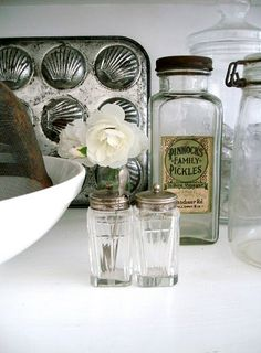 I like the old-fashioned salt and pepper shakers.
