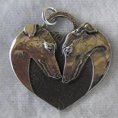 A Hounds Heart Sterling Silver Pendant