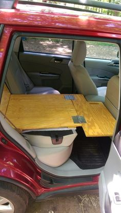 "Made this last summer for a few camping trips after being inspired by the ""Subaru-Falia"" thread on one of the offroad forums. Camping Box, Minivan Camping, Truck Camping, Family Camping, Camping Hacks, Camping Guide, Kangoo Camper, Suv Camper, Land Rover Discovery"