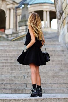 dress and boots//   little black boots and biker boots. Classy with a touch of edgy makes me very happy