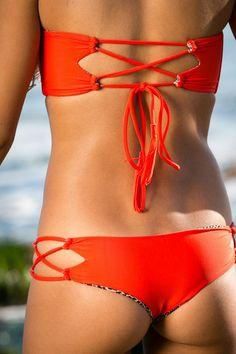 ACACIA Swimwear 2014 - Kauai Bikini Bottom Hibiscus - $101