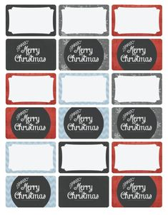Free Christmas tag labels. Very classy vintage themed set by Catherine Augar.