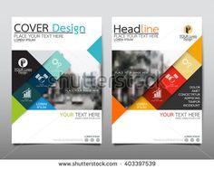 Blue Fold Set Technology Annual Report Brochure Flyer Design