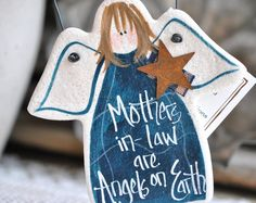 Mother in Law Gift Mother's Day Salt Dough Ornament  / Gift for Mom / Birthday / Xmas Ornament