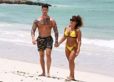 Adam Maxted & Carly Taylor on the Beach in Barbados