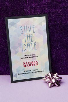 Oryginalne zaproszenia na ślub, stylowe karty Save The Date