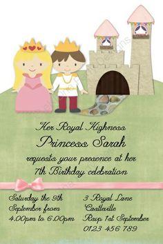 Princess And Pirate Birthday Party Invitation Pirate Birthday