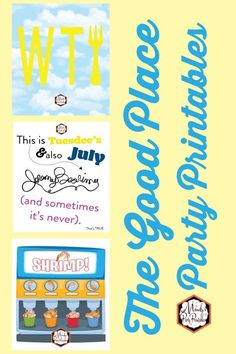 Get the best The Good Place printables here! From What the Fork to Jeremy Bearimy prints! From Mandy's Party Printables