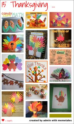 Thanksgiving is a great time to teach kids about gratitude. We have gathered 15 ideas to use with your kiddos over the next few weeks... Thanksgiving Activities For Kids, Holiday Activities, Thanksgiving Crafts For Kids, Art Activities, Children Activities, Kindergarten Thanksgiving, Happy Thanksgiving, Kindergarten Classroom, Holiday Fun