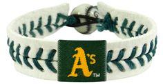 Oakland Athletics Genuine Baseball Bracelet
