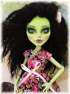 Venus McFlytrap Monster High Custom doll by Donna Anne  www.fantasydollsbyd.com  Commissions welcome