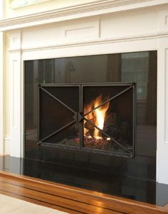 Custom Contemporary Fireplace Doors in Scarsdale, NY