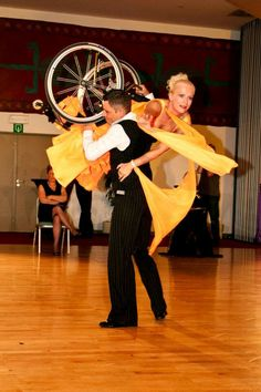 Wheelchair dance Lift. >>> See it. Believe it. Do it. Watch thousands of SCI videos at SPINALpedia.com