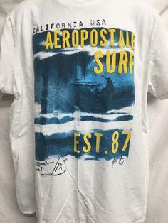 Aeropostale California USA Surf Shirt Adult XXL Puffy Graphic Aero Urban Casual  #Aeropostale #aero #aeropostalesurf