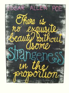 Edgar Allen Poe Quote Painting on Canvas by ecwhitman on Etsy, $18.00