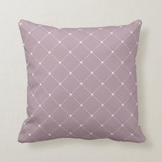 Mauve Diagonal Dotted Lines Pattern Throw Pillow | Zazzle.com Purple Throw Pillows, Dotted Line, Line Patterns, Decorative Cushions, Gray Background, Shades Of Purple, Custom Pillows, Home Decor Accessories, Home Decor Inspiration