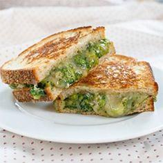 Broccoli-Cheddar Grilled Cheese
